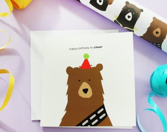 happy birthday to chew, birthday card