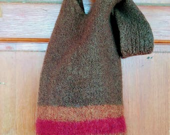 Hand knit and felted Japanese Knot Purse
