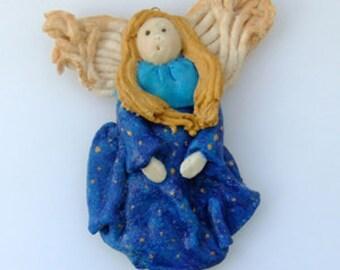 Salt dough angel - hanging decoration. 10% LESS.