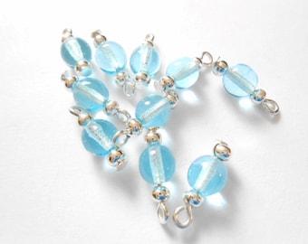 Light Blue Transparent Dangle Beads