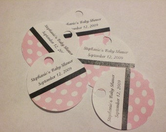 30 Baby Shower Round Hang Tags