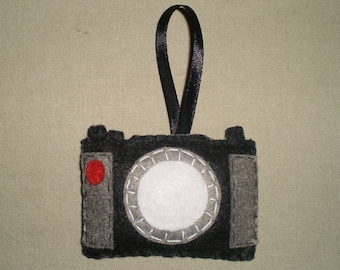 Felt Camera Ornament