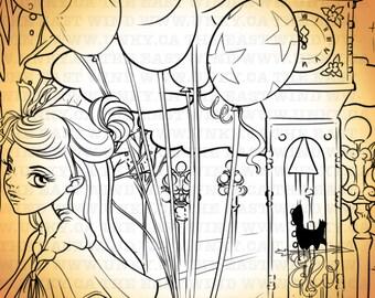 Digitalen Stempel - Aurora 'Ballons' + 'Gastown' 300dpi JPEG - - MAC0242A