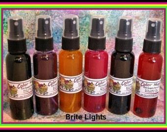 Brite Lights, Watercolor Sprays, Color Mists,Art Supplies, Ink Sprays, Craft Supplies, Art Journaling, Scrapbooking, Glimmer Mists,