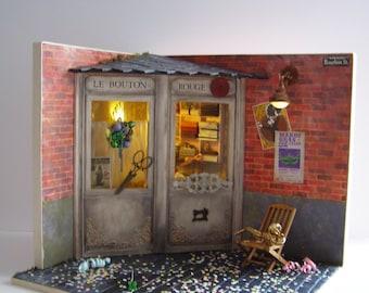 "Hand-made miniature scene 1:12 scale ""Mardi gras"""