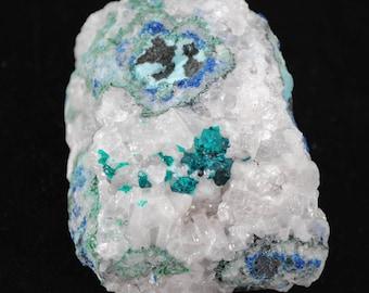 Dioptase, Calcite, 75x45mm 242g