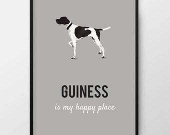Custom Pet Portrait, Custom Pet Print, 'My Pet' is my Happy Place, Dog portrait, Dog print, Pet print, Custom pet wall art, Dog art gift