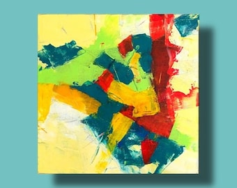 Small original abstract painting modern art