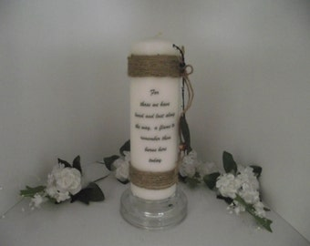 Pillar memory candle for grandpa ,dad ,uncle ,or a loved one who loved fishing