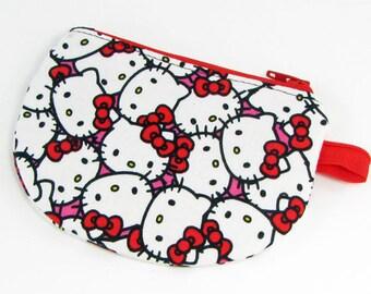 Hello Kitty, change purse, credit card case, business card holder, womens change purse, credit card wallet, mini wallet, minimalist wallet