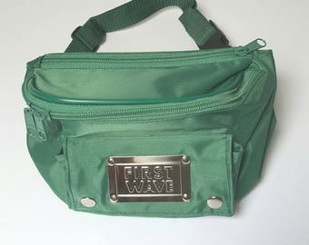 1990s Green Nylon First Wave Bumbag