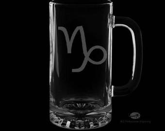 16 Ounce Capricorn Personalized Beer Mug