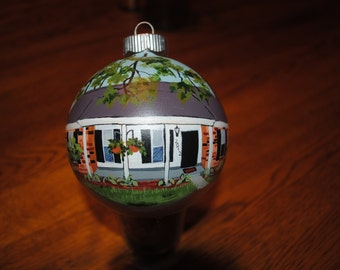Custom New Home Hand Painted ornament  - sold