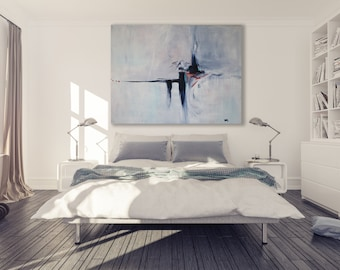 Abstract Painting / Modern Art / Contemporary Art / Extra Large Painting / Oversized Painting / Grey Abstract Painting