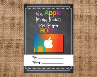 Teacher Gift Card Holder, Gift Card Holder for Teachers, Teacher Christmas Gift, Gift for Teachers, Male Teacher Gift, Gift Card Printable