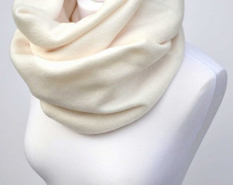 Fleece scarf, cowl scarf, cream infinity scarf, chunky cowl, christmas scarf, womens scarves, victoria grace, girlfriend gift, gift for her