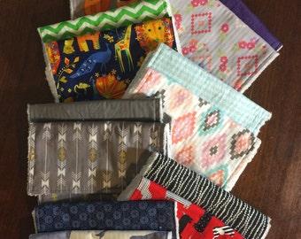 Burp Cloth sets, Fall burp cloths, baby gift,