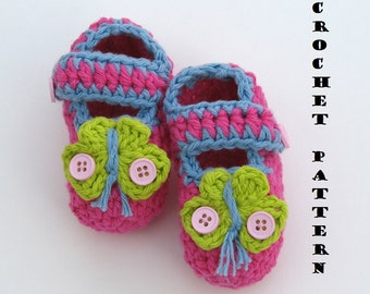 Childrens Slippers, Mary Jane  Slippers, Crochet Pattern PDF,Easy, Great for Beginners, Shoes Crochet Pattern Slippers, Pattern No. 3
