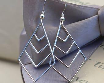 Geometric Chevron Sterling Silver earrings