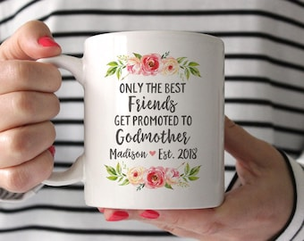 Personalized Godmother Gift for Best Friend Godmother Proposal New Godmother Gift Godmother Mug Pregancy Reveal to Best Friend Fun Pink Mug