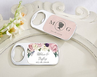 Personalized Bottle Opener, English Garden Wedding Favors, Custom Wedding Bottle Opener (11141EG)