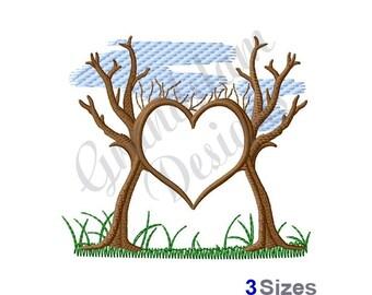 Tree Heart - Machine Embroidery Design