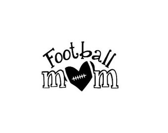 Football Mom Decal - Sports Team Decal
