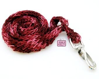 Crochet Retro Zig Zag Woven Lanyard ID Badge Holder, Burgundy Mix Colour, Crochet Lanyard, Gifts For Her, Gifts For Him, Key FOB, Key Holder