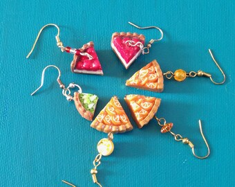 pair of fruit tart earrings
