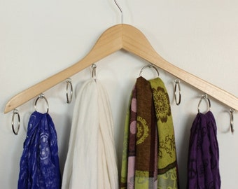 Infinity Scarf Hanger, Scarf Hanger, Accessory Wooden Hanger and Organizer