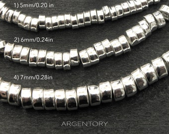 silver spacers beads, sterling silver spacers