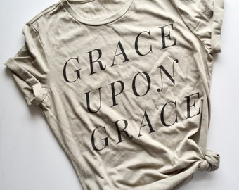 Grace Upon Grace Womens Hipster Christian T Tee Shirt by Mercy Ink