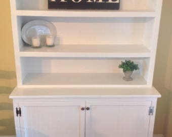 Farmhouse Hutch / Display Cabinet(free shipping )