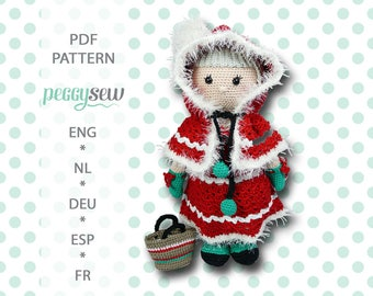 Maxi Mrs Santa, amigurumi crochet pattern, PDF, ebook