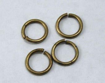 10mm Antique Brass 13 Gauge Jump Ring #RJE044
