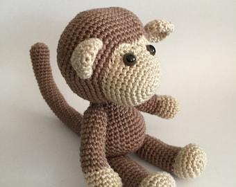 Crochet monkey, Amigurumi monkey, Crochet animal, Crochet toy, Monkey, Stuffed toy, Stuffed animal, Crochet amigurumi