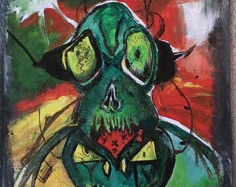 Alien Invader Painting