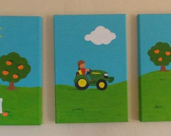 Hand-painted children's pictures