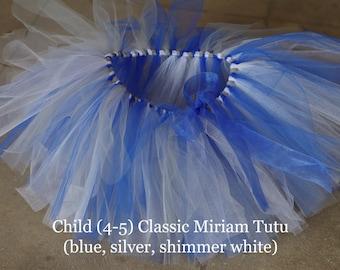 Classic Miriam Tutu- blue, silver, shimmer white