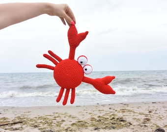 crab crochet toy