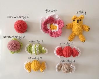 Magnets, Crochet Magnets, Amigurumi Magnets, Fridge Magnets
