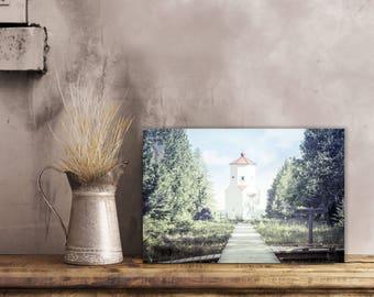 Baileys Harbor Range Lights, Lighthouse Decor, Door County Photography, Nautical Decor, Color, Large Wall Art Print, Wisconsin