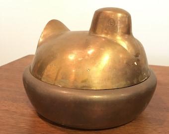 Vintage Brass Nesting Duck/Bird Modern Design