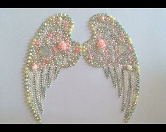 Angel wings picture framed sparkly