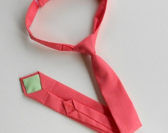 Coral Necktie -Infant, Toddler, Boy   2 weeks before shipping