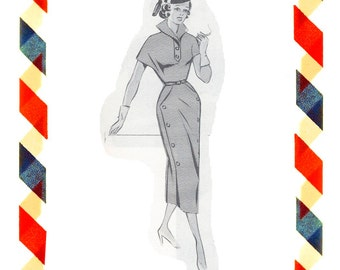 Vintage Sewing Pattern in any size including plus size 1949 PDF Instant Download Pattern no 49