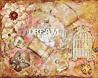 Dream-Mixed Media Canvas
