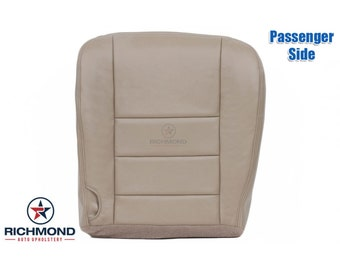 2005 2006 2007 Ford F-250 F-350 Lariat Leather Seat Cover: Passenger Bottom, Tan