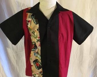 1950's Retro Bowling Shirt Size 5/6