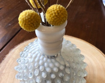 Polka dot glass vase